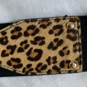 Express Accessories - Express • NWT Leopard Calf Hair Leather Belt